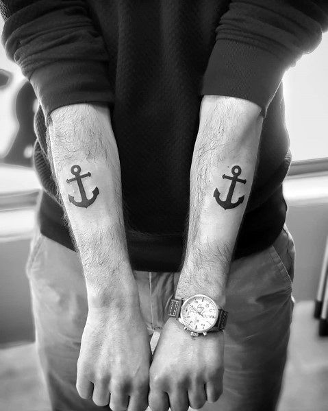 Simple Anchor Tattoos For Gentlemen