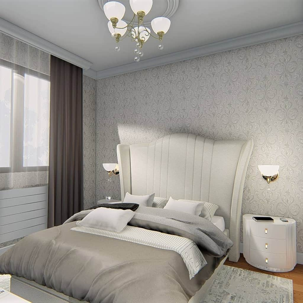 simple and light colored bedroom wallpaper ideas triminainteriors