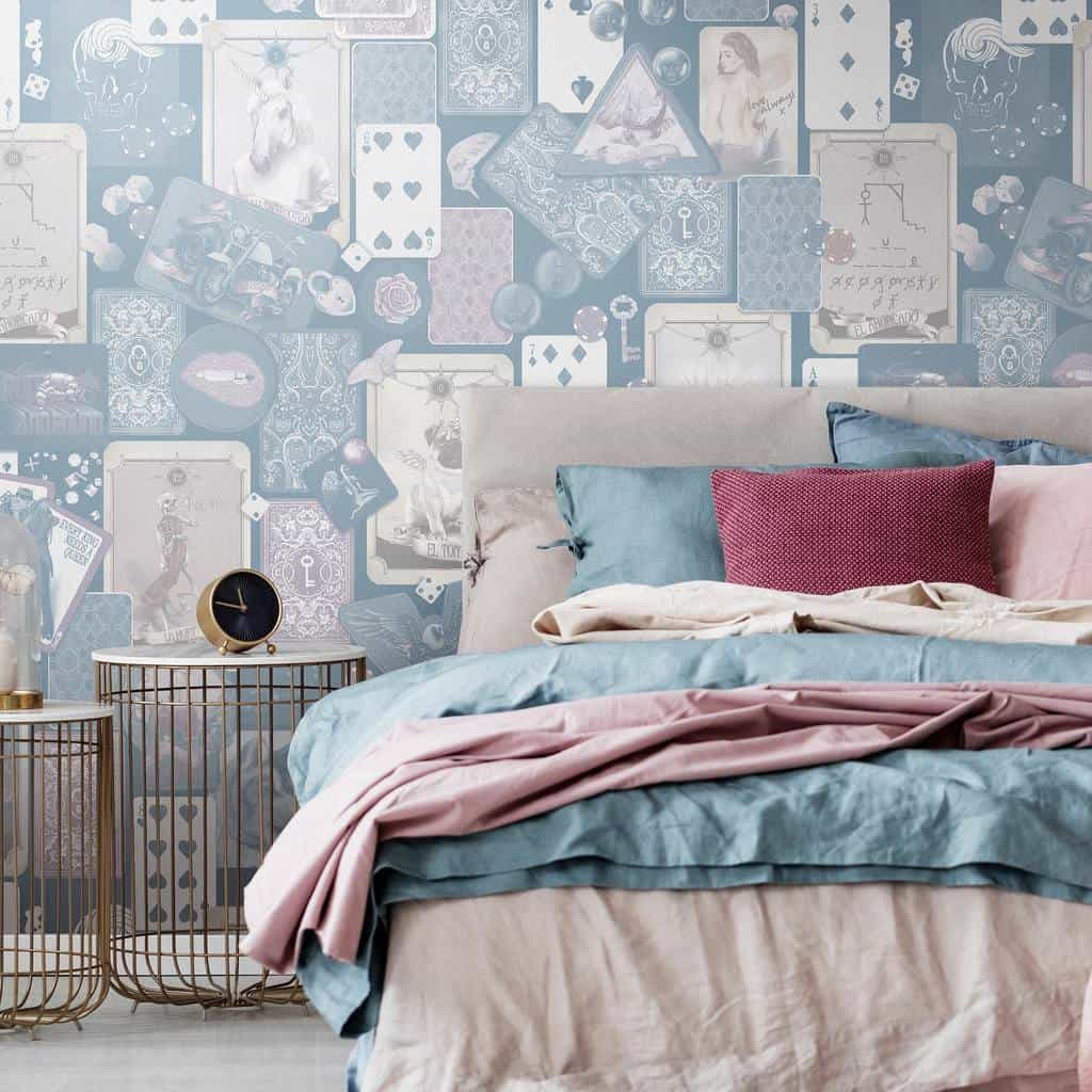 simple and light colored bedroom wallpaper ideas willothewispdesign