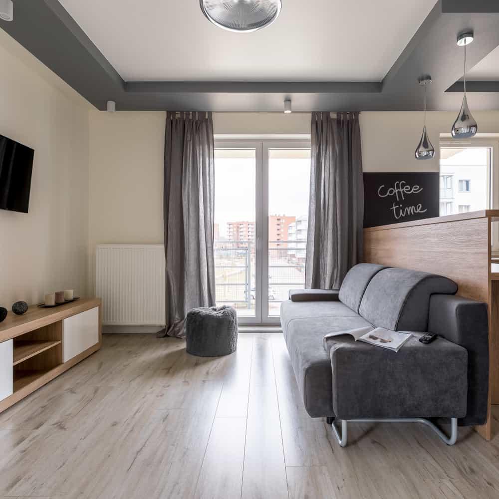 Simple Apartment Minimalist Living Room 1