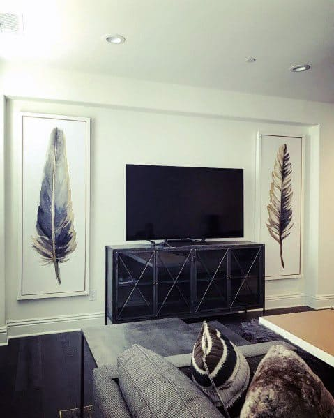 Simple Art With Tv Stand Home Interior Wall Designs