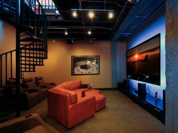 Simple Basement Man Cave Designs For Men