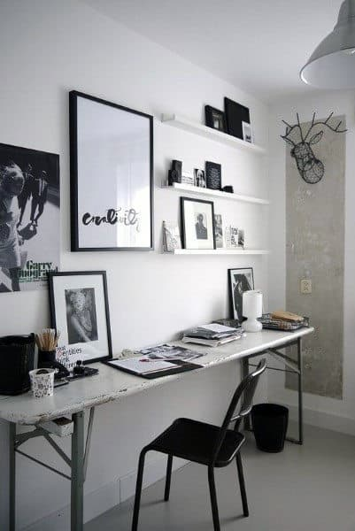 Simple Basic Small Home Office Ideas For Guys
