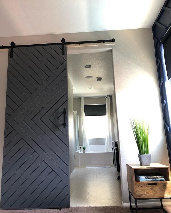 Simple Bathroom Barn Door Seven