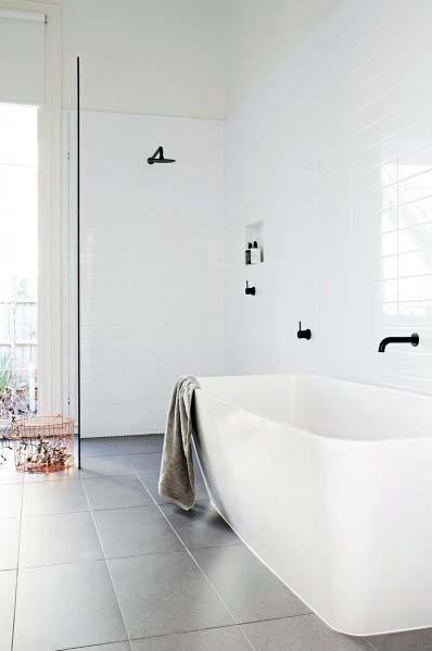 Simple Bathtub White Bathroom Ideas