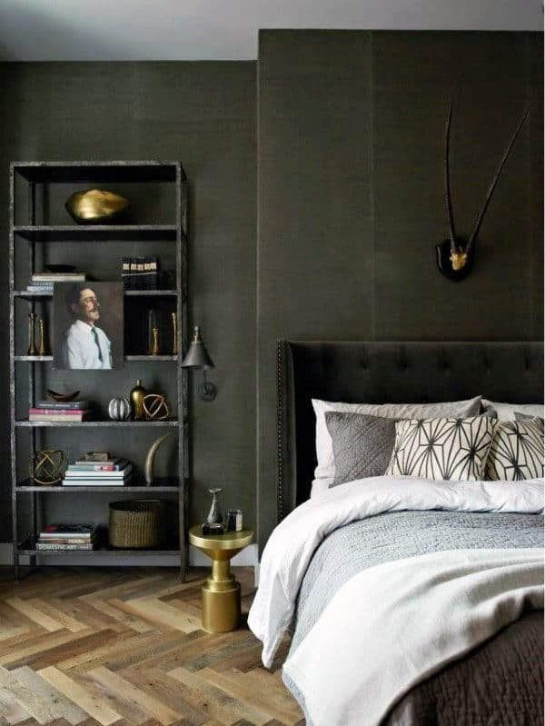 simple bedroom for man
