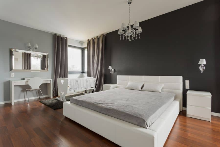 simple black and white bedroom ideas 3