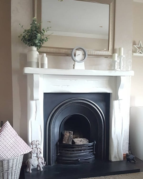 Simple Black Arch Fireplace Surround Mylittlehomeandfamily