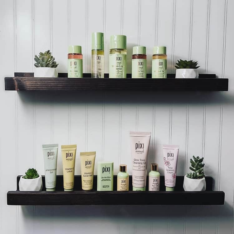 Simple Black Toiletries Shelf Paperclipsandconfetti