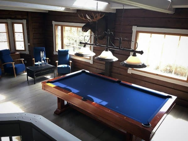 Simple Blue Billiards Room