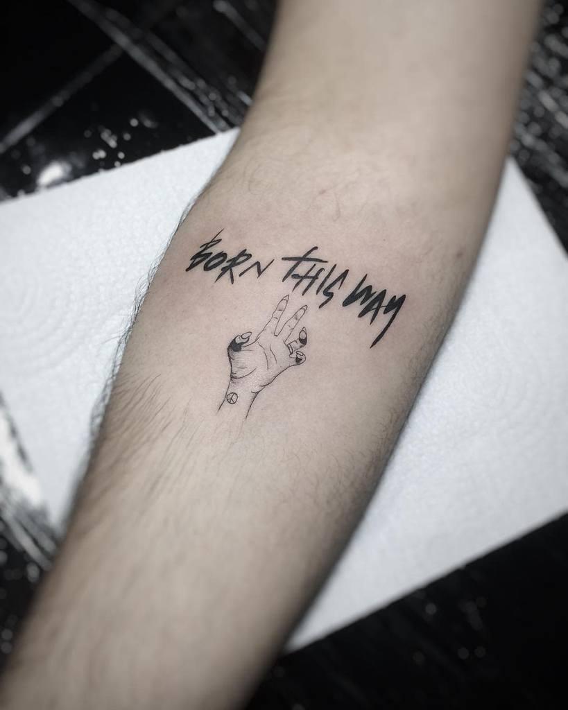 Simple Born This Way Tattoos Cafox