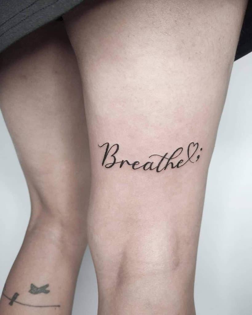 simple breathe tattoos nitzan.tattoo