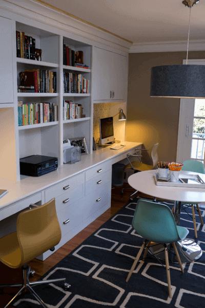 Simple Built In Desk Idea Inspiration