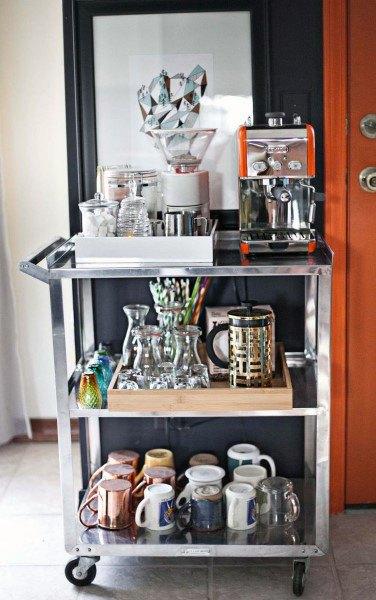 Simple Cart Coffee Bar Designs