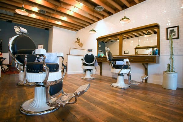 Simple Clean Barber Shop Designs