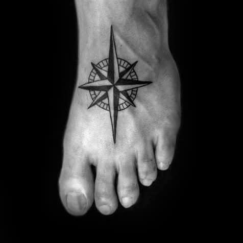 Simple Compass Tattoos For Gentlemen