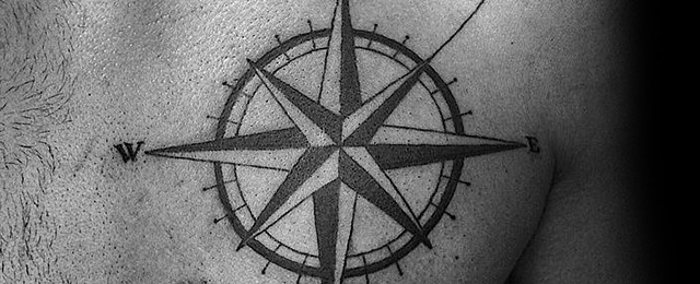 Simple Compass Tattoos For Men