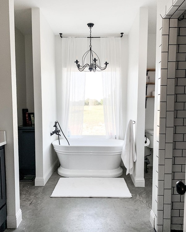 Simple Corner Farmhouse Bathroom Tub Fultonfarmhouse