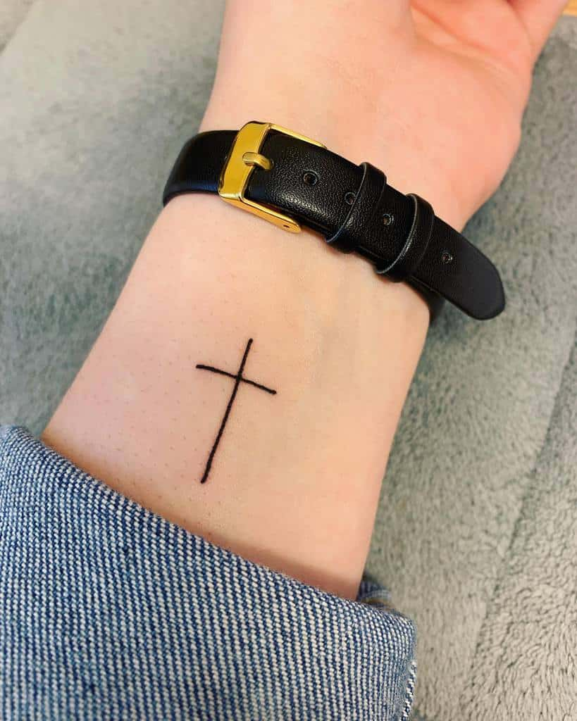 simple cross tattoos for women alilbitof_jessica