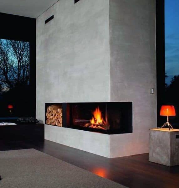 Simple Design Fireplace Modern