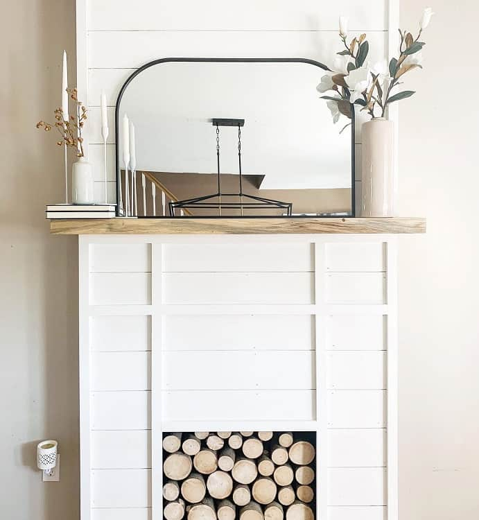 Simple Faux Fireplace Surround Carlsonsonthehill