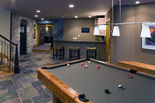 70 home basement design ideas for men masculine retreats - Finish basement design ...