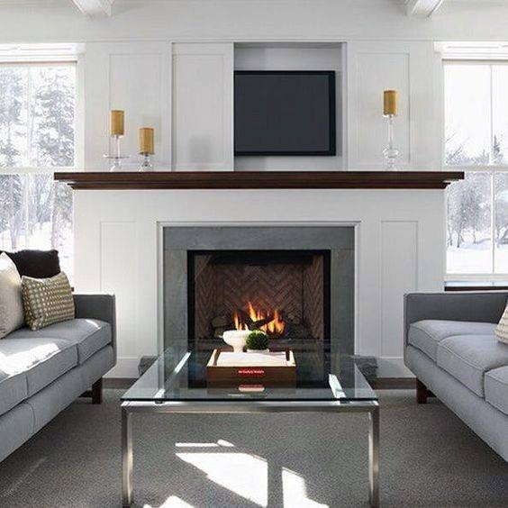 Simple Fireplace Mantel Design