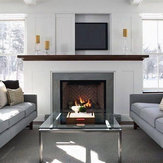 Simple Fireplace Mantel Design