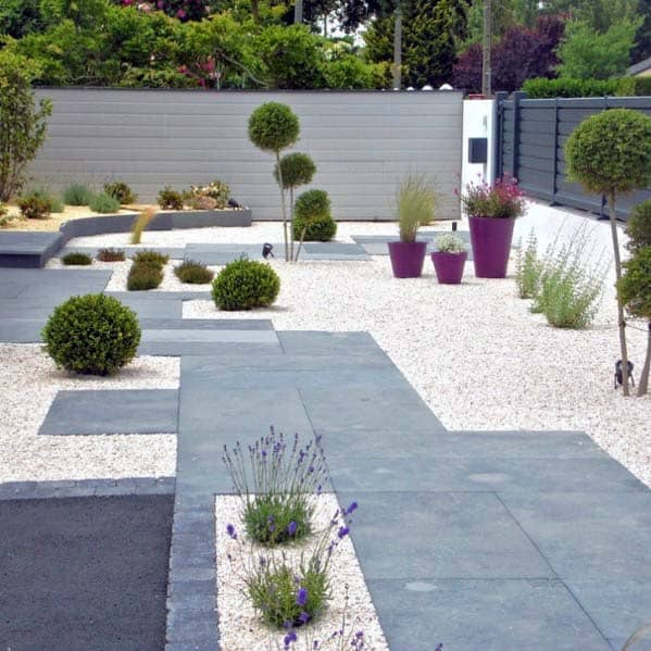 Simple Gravel Landscaping Design Idea Inspiration