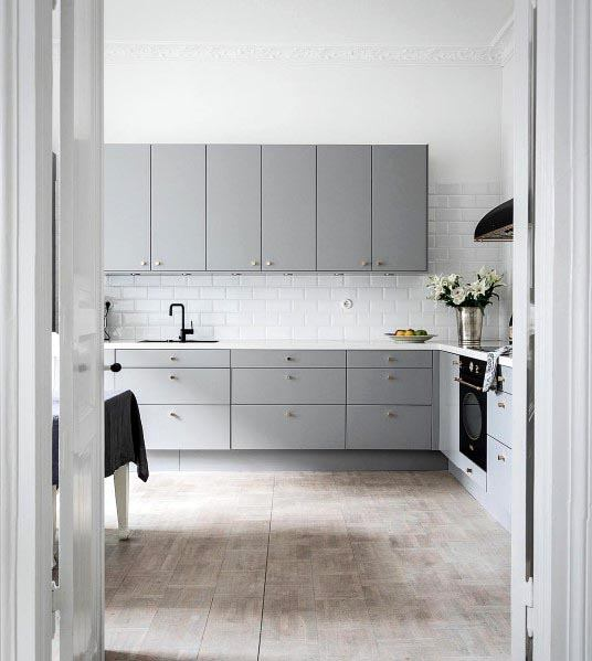 Simple Grey Kitchen Cabinet Designs