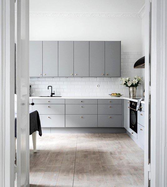 Simple Grey Kitchen Cabinet Designs
