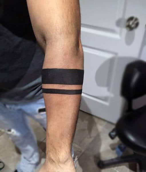 70 armband tattoo designs for men masculine ink ideas simple guys armband tattoo of two solid black ines urmus