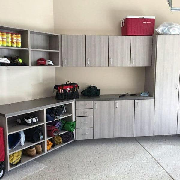 Simple Home Garage Storage Cabinetry