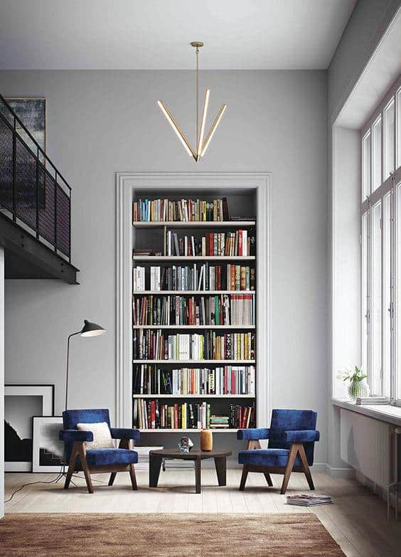 Simple Home Library Bookcase Inspiration