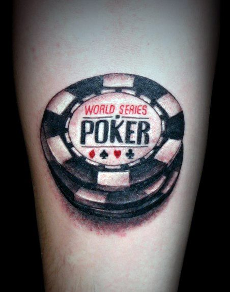 Simple Inner Forearm Cool Poker Chip Tattoo Design Ideas For Male