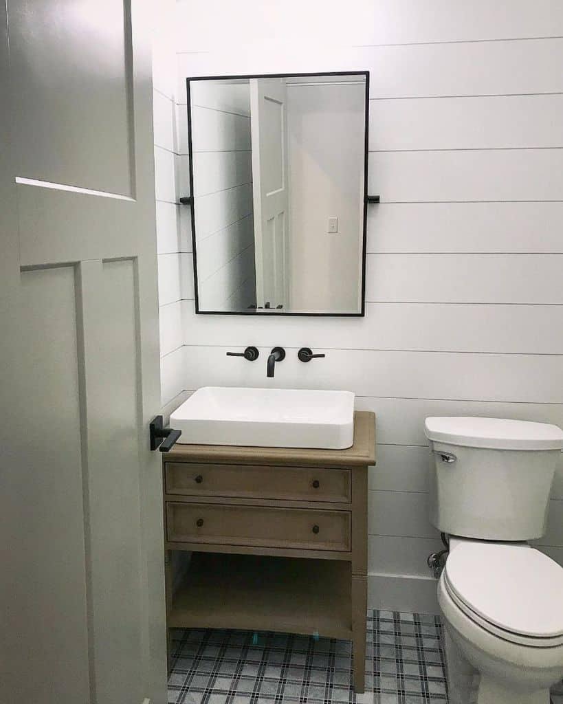Simple Interior Powder Room Ideas Ic Construction Lc