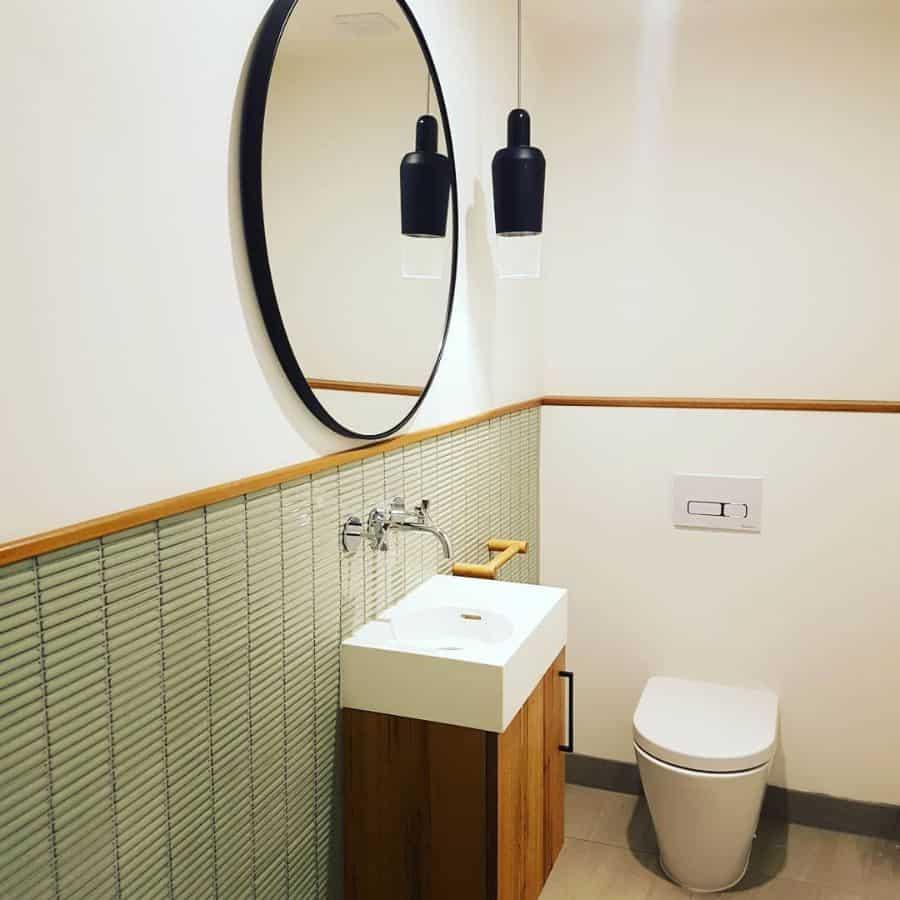 Simple Interior Powder Room Ideas Michaellimbbuilders