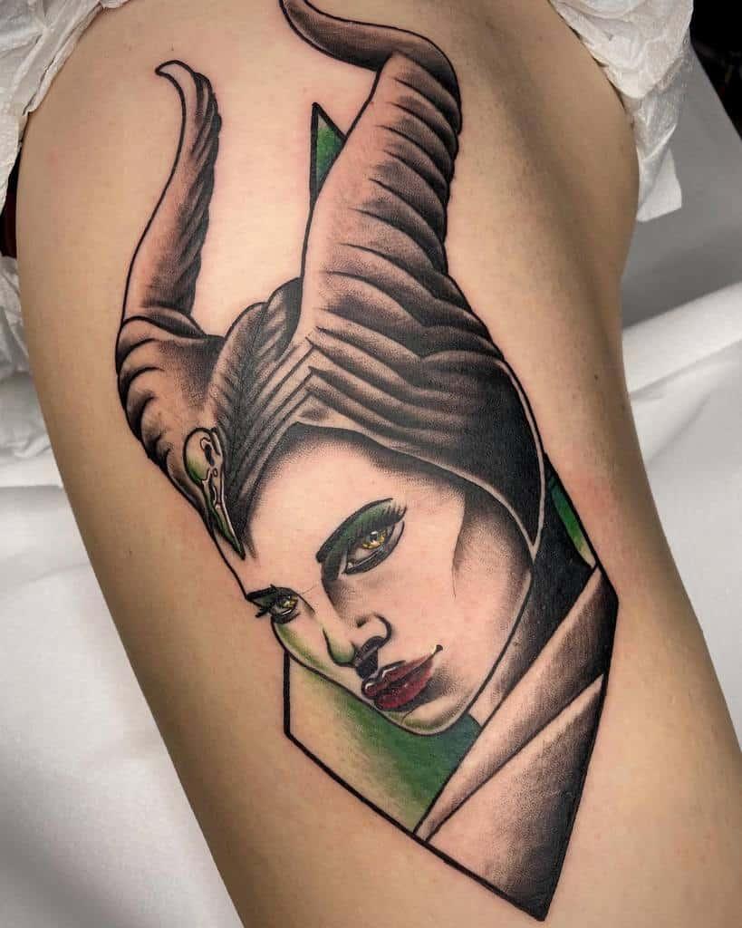 Simple Maleficent Tattoos End8 Tattoo