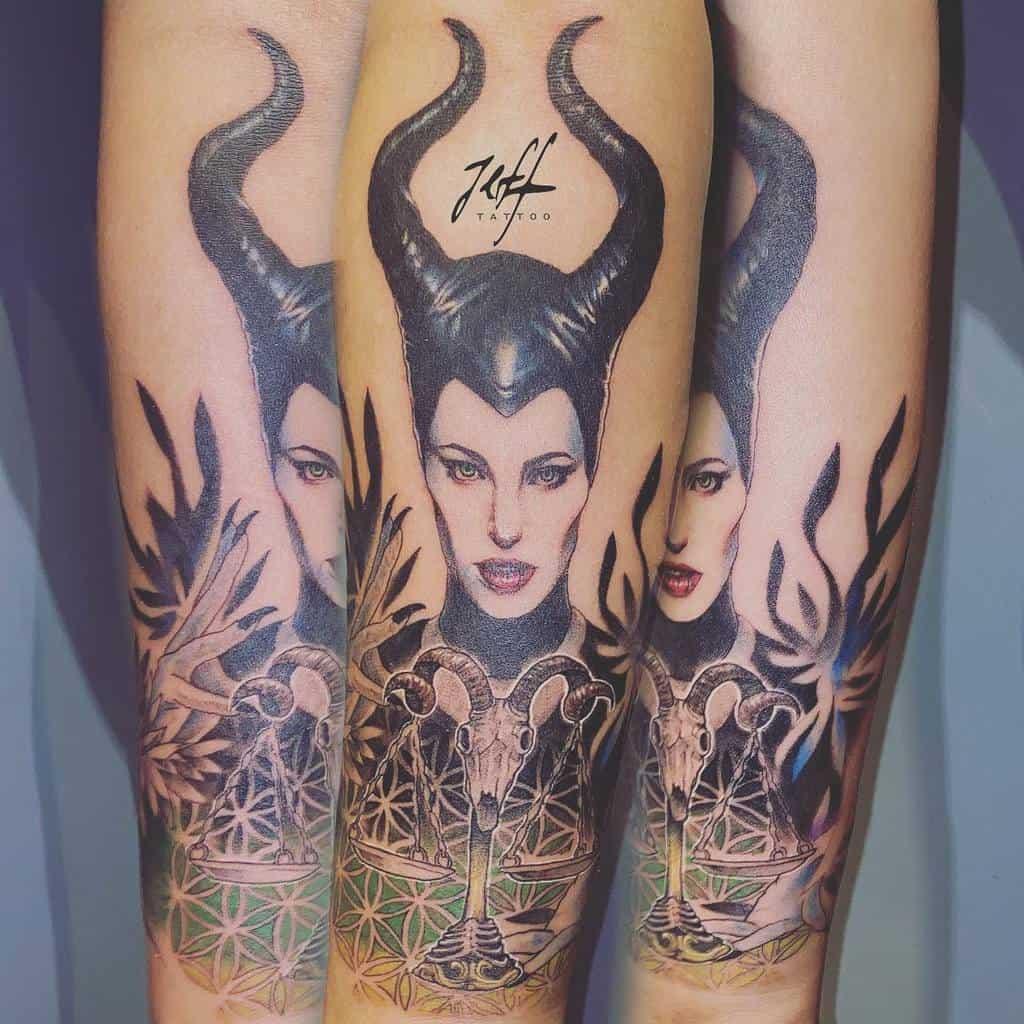 Simple Maleficent Tattoos Jeffinktwtatto