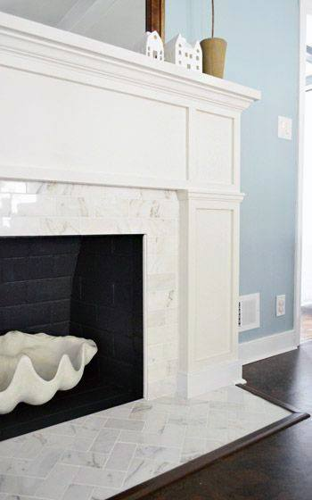 Simple Marble Fireplace Mantel Design Surrond