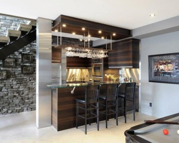 Simple Modern Home Bar Design
