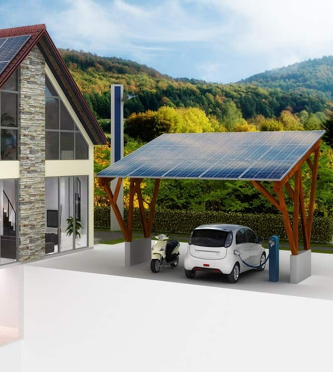PV Dachanlage Am Carport