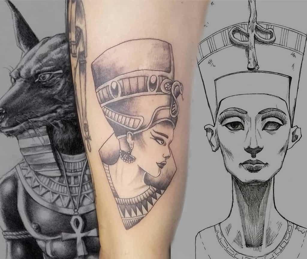 Simple Nefertiti Tattoos Eldiabloinktattoo