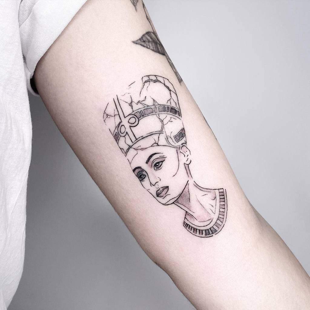 Simple Nefertiti Tattoos Marielelbaz.tattoos