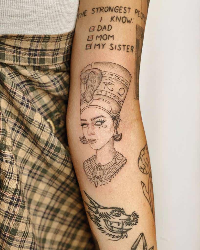 Simple Nefertiti Tattoos Ms.j Tattoo