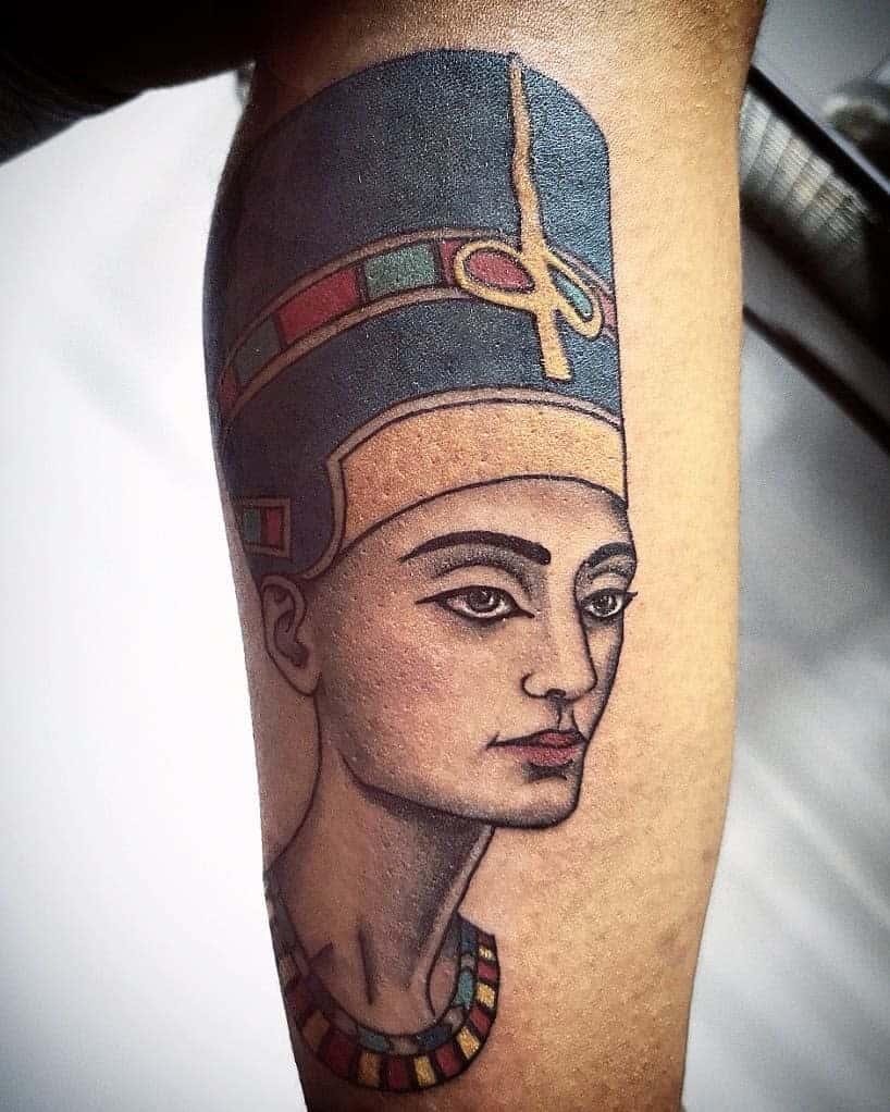 Simple Nefertiti Tattoos Ojosrojos.tattoo