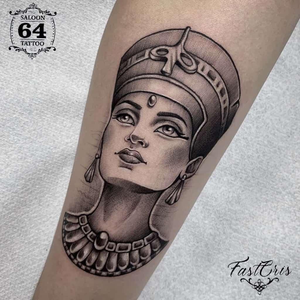 Simple Nefertiti Tattoos Saloon64tattoo