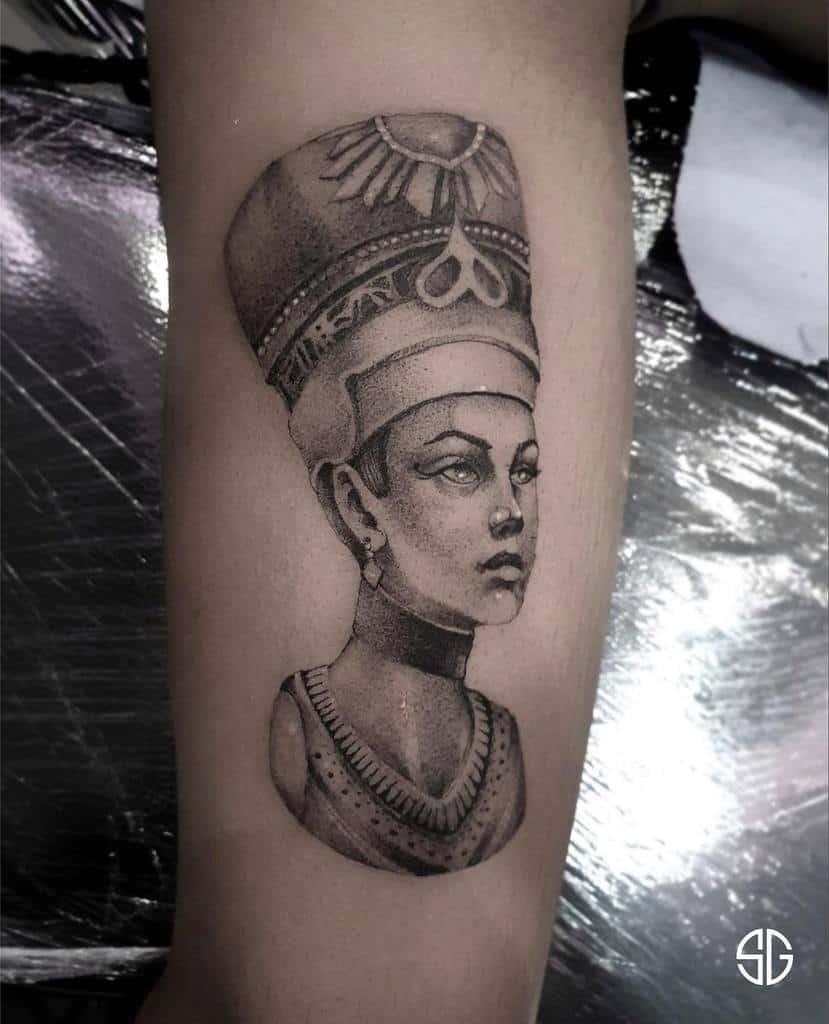 Simple Nefertiti Tattoos Southgatetattoo
