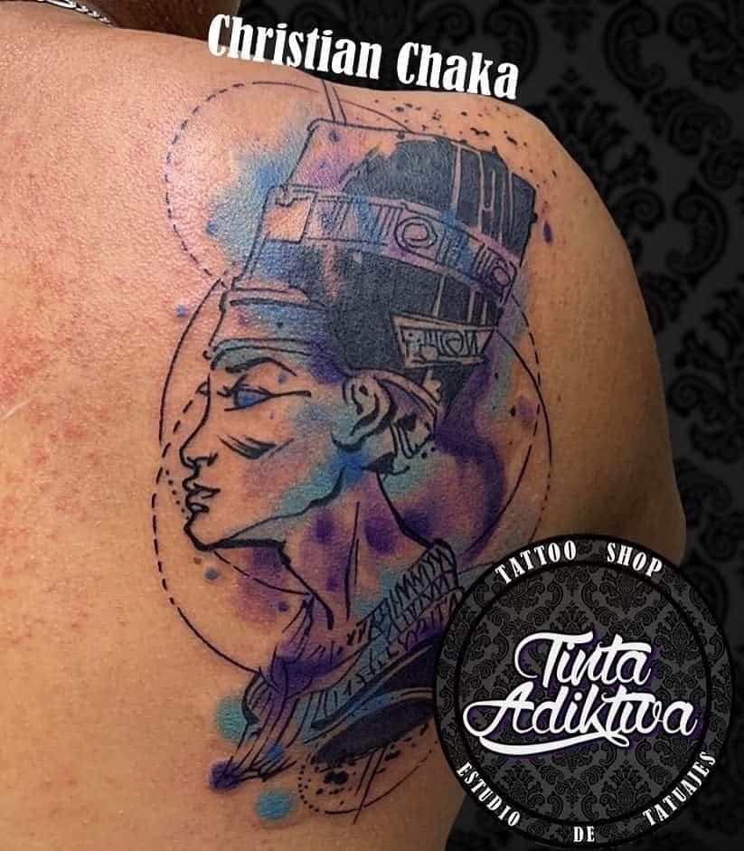 Simple Nefertiti Tattoos Tinta Adiktiva 2