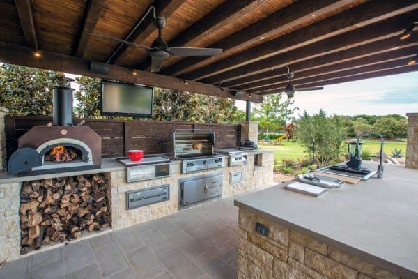 Top 60 best outdoor kitchen ideas chef inspired backyard for Basic outdoor kitchen ideas